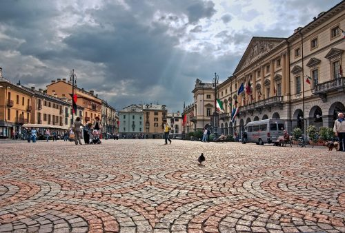 Aosta - náměstí