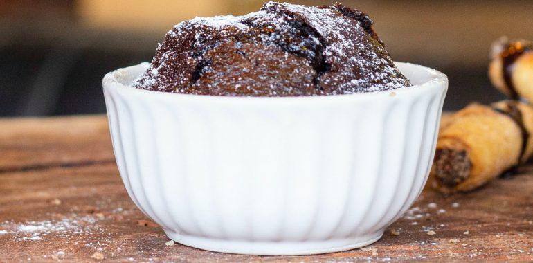 Sufle alla cioccolata (čokoládové suflé)