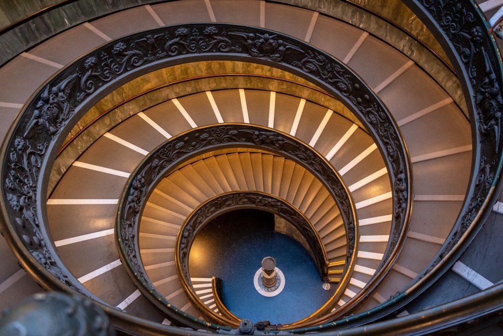Vatikánská muzea - schodiště