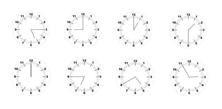 Hodiny - všechny hodiny