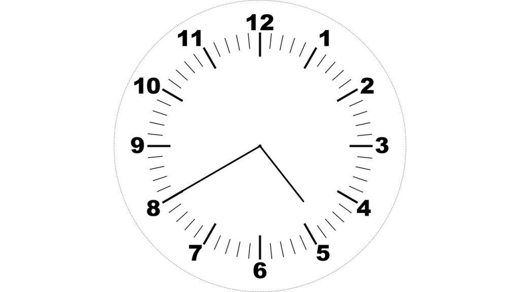 Hodiny - za dvacet minut pět