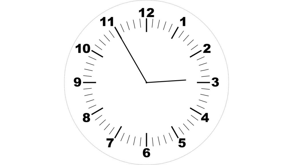 Hodiny - za pět minut tři