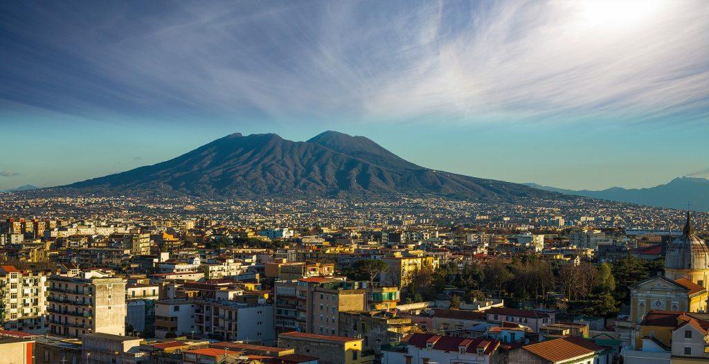 Panorama - Neapol a Vesuv
