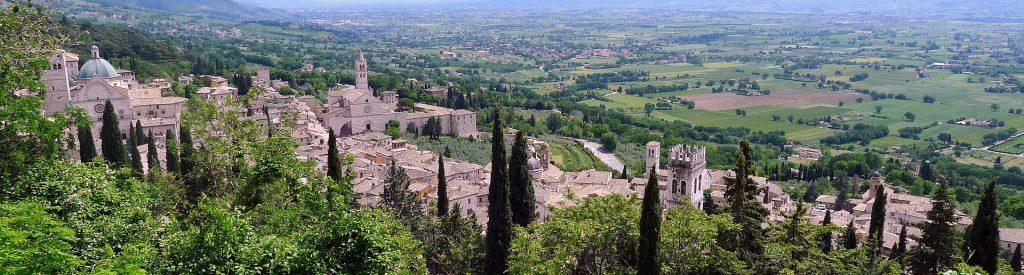 Pohled na město Assisi