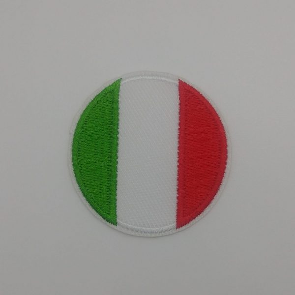 Nažehlovačka - italská vlajka (kulatá)
