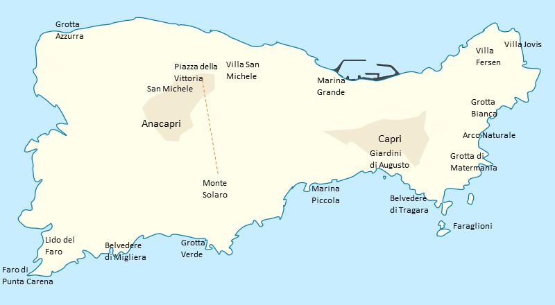 Capri - luxusní ostrov v Neapolském zálivu